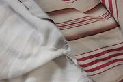 Antique And Vintage French Fabrics Linen + Ticking Project Bundle For Sewing
