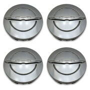 Set 4- Genuine Oem Chrysler Wheel Center Hub Cap 1lb74trmab Satin Silver 2.5