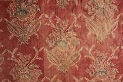 French 1700and039s 18th Century Block Print Valance Resist Dyed Indigo Blue + Red