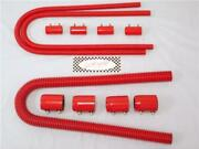 48 Red Stainless Steel Radiator Hose And 44 Red Heater Hose Kit Universal