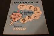 1962 St Louis Cardinals Mlb Yearbook Stan Musial Cover In Very Good Condition