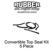 1968 1969 Ford Fairlane Convertible Top Seal Kit - 5 Piece