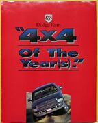 1995 Dodge Ram 4x4 Truck Of The Year Petersens 4wd And Off Road Folder Original