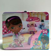 2in1 Disney Doc Mcstuffins Tin Lunch Box +24pc Puzzle Toy Xmas Birthday Gift Bag