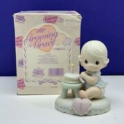 Precious Moments Birthday Age 1 Growing In Grace 136190 Figurine Box Cake One