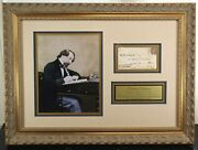 Charles Dickens English Writer Signed Autograph Framed Display Jsa Authenticated