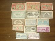 China Set Of 14 Different Old Hell Banknotes Currency For The Other World