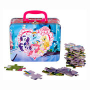 My Little Pony 48pc Jigsaw Puzzle + Tin Lunch Box Carry All Case Girls Gift Bag