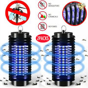 2pack Electric Mosquito Fly Bug Insect Zapper Killer Trap Lamp Stinger Pest 110v
