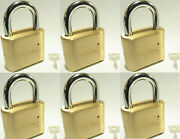 Master Lock Solid Brass 175 Lot Of 6 Set To Your Own Combination Padlock