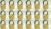 Master Lock Solid Brass 175 Lot Of 18 Set To Your Own Combination Padlock