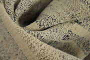 Striped Linen Fabric Antique French 1700s Old Olive Harvest Blanket Natural Dye