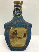 Vintage Jim Beam Whiskey Decanter Frederic Remington Hauling In The Gill Net