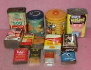 Lot Of 13 Vintage Empty Tin Cans.