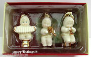 Dept. 56 Snowbabies Ornaments Musical Trio Set Of 3 Retired 2004 New 69178