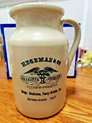 Hegeman And Co Stoneware Pitcher Chemists And Druggists New York Eagle Logo