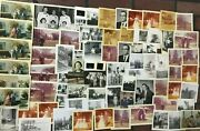 Vintage And Antique Photograph Lot Of 77 Photos Family, People Cars