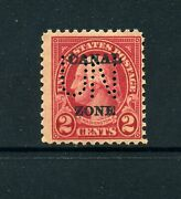 Canal Zone Scott 73 Var Company Issue Un Perfin Mint Nh Stamp Rare Variety