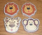 Lot Animal Playing Cards Monkey Leopard Lion Shaped New Preschool Daycare Sealed