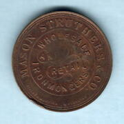 New Zealand - Token. Mason And Struthers And Co - 1d. Christchurch.. Au-unc