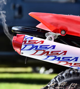 Dasa Red White Blue Shorty Full Exhaust System Classic Yamaha Raptor 700 2015+