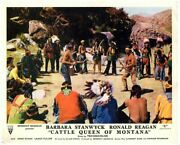 Cattle Queen Of Montana Original Lobby Card Barechested Indian Fight Lance Fulle