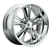 Cpp Foose F097 Knuckle Wheels 17x7 + 17x8 Fits Dodge Charger Coronet Dart