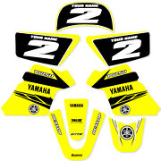 Yamaha Pw 50 Pw50 Graphics Kit Decals Deco Fits Years 1990 - 2018 Yellow Enjoy