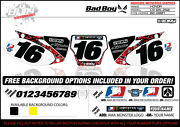 Bad Boy Team Motocross Number Plate Graphic 02-03 Cr 125/ 250 By Enjoy Mfg
