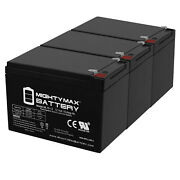 Mighty Max 12v 15ah F2 Battery Replacement For Hummingbird Fish Finder - 3 Pack