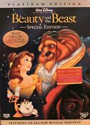 Walt Disney Beauty And The Beast Special Edition Dvd