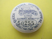 S A Cheney Motors 1st Prize Gift Of Chevrolet Car Queen Victoria Hospital Badge