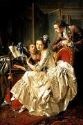 The Music Party Paris 1774 French Painting By Louis Rolland Trinquesse Repro