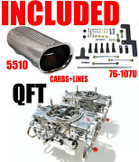 Quick Fuel Hr-650-b2 Blower Supercharger Carbs Gas With Lines Linkage Scoop