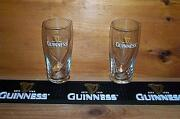 Guinness Beer Mat Bar Coaster And 2 Guinness Galaxy Style Pint Glasses New