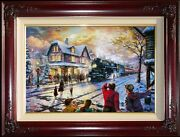 Kinkade All Aboard For Christmas -- Lionel Trains -- 18x27 G/p Limited Edition