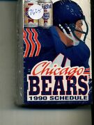 1990 Chicago Bears Football Schedule Lot Of 100