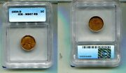 1934 D Lincoln Head Penny Icg Ms67 Rb