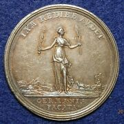 1763 French And Indian War Silver Treaty Medal Colonial America Beautiful S290