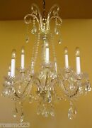 Large 26 Wide Crystal Chandelier With 10 Lights