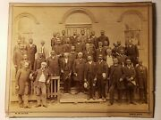 1870and039s Cabinet Card Photo A.m.e. Church Earliest Known Group Rare Black Image