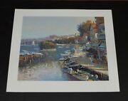 Ming Feng - Bayside Village - Mint Condition A/p - Serigraph