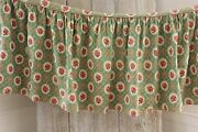 Vintage French Fabric Material Red + Green 1950and039s Floral Marignan Christmas Tone