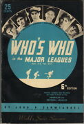 Whoand039s Who In The Major Leagues Worldand039s Series Souvenir 1938 6th Edition