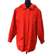 Authentic Vintage Cc Logos Button Long Sleeve Jacket Red Gs01278f