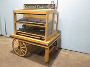 Cms Commercial High End Wooden Lighted Dual Serving Side Bakery Merchandiser