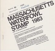 Kappysstamps Id9132 Ma10 1983 Massachusetts State Duck Booklet 2 Panes 24 Stamps