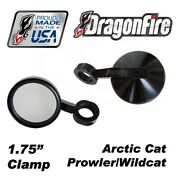 Dragonfire Ss Side View Mirror Blk 1.75 Clamp Pair Arctic Cat Prowler/wildcat