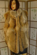Brand New Natural Canadian Coyote Fur Vest Jacket Men Man Woman Women Size All