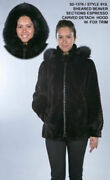 Brand New Espresso Color Sheared And Carved Beaver Fox Fur Jacket Coat Women All